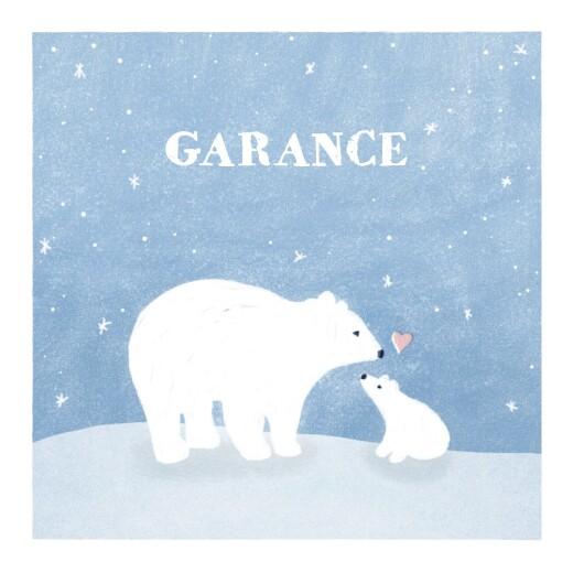 faire part de naissance ours polaire 4 photos