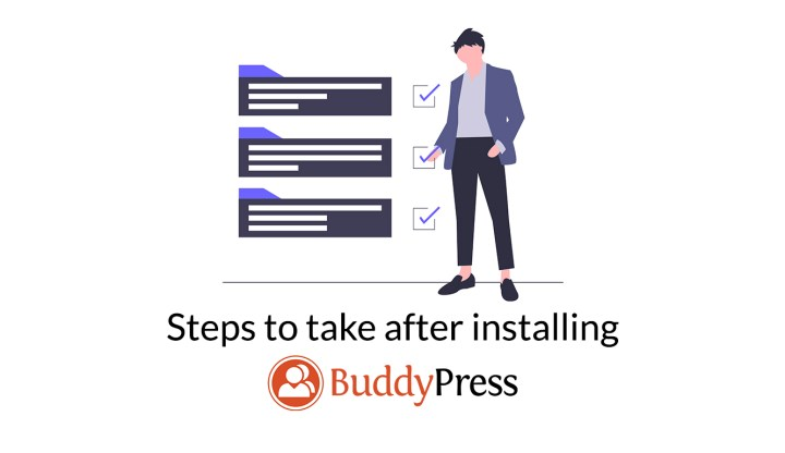 steps to take after installing BuddyPress