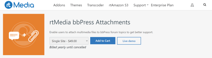 rtmedia bbpress attachments addon