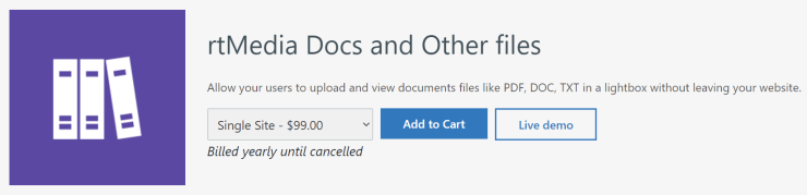 rtmedia docs and other files addon