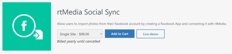 rtmedia social sync addon