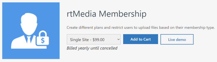 rtmedia membership addon for buddypress