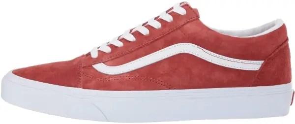 vans pig suede old skool sneakers in red