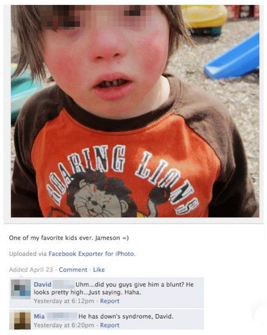 down syndrome facebook Nine Hilariously Awkward Facebook Interactions