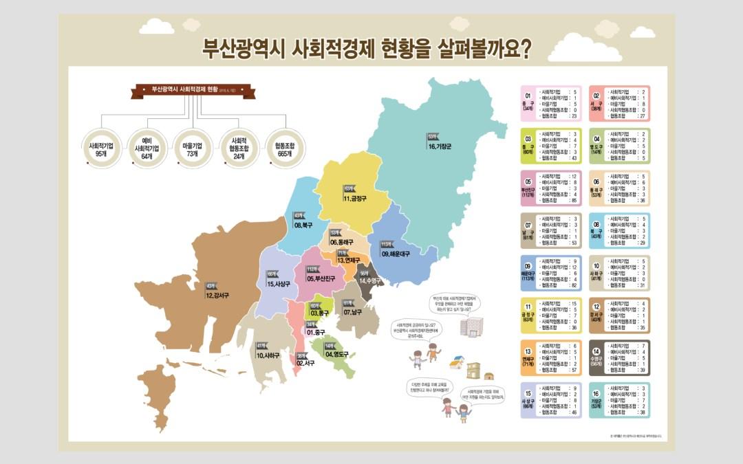 부산사회적경제지원센터 홍보현수막