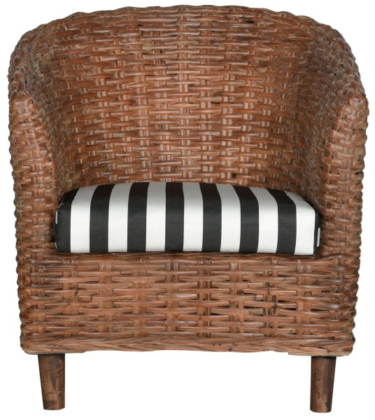 Rattan Barrel Chair   Safavieh com OMNI RATTAN BARREL CHAIR FOX6501D ACCENT CHAIRS