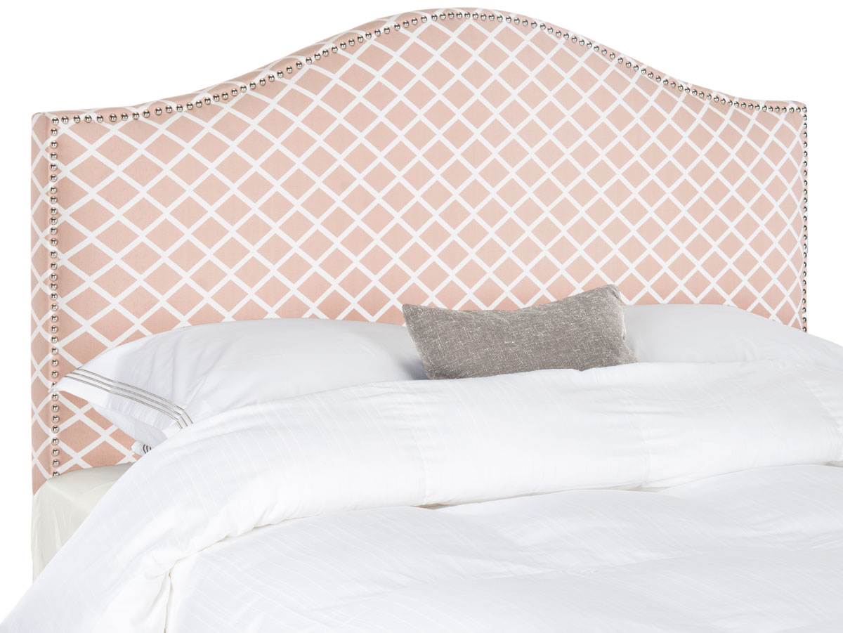 Connie Dusty Rose & White Headboard