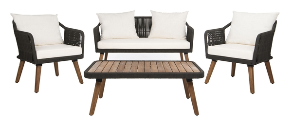 PAT7049B Patio Sets - 4 Piece - Furniture by Safavieh on Safavieh Raldin  id=40634