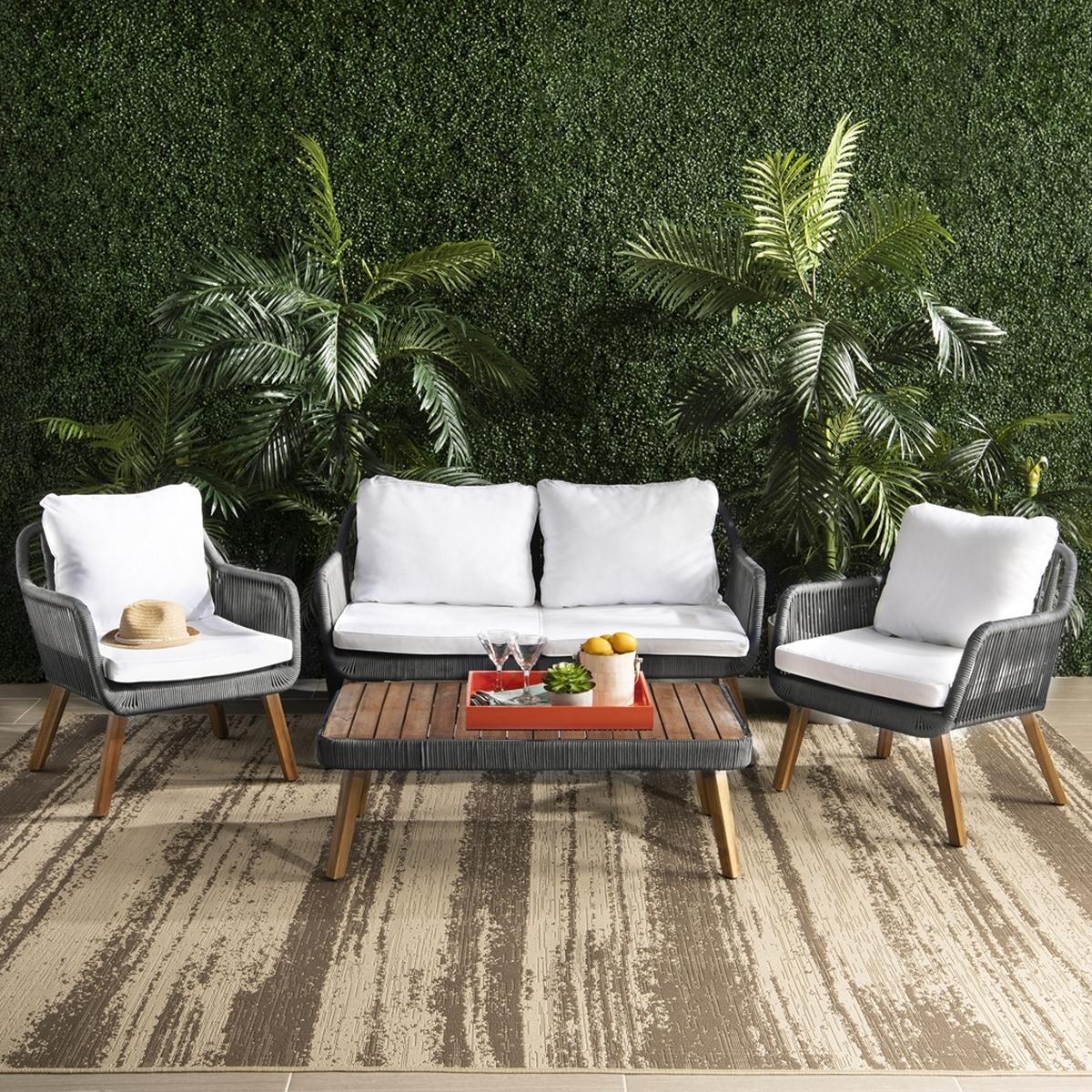 PAT7049A Patio Sets - 4 Piece - Furniture by Safavieh on Safavieh Raldin id=79477
