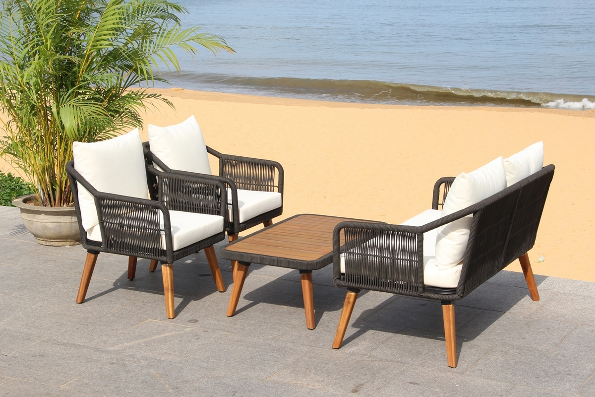 PAT7049B Patio Sets - 4 Piece - Furniture by Safavieh on Safavieh Raldin  id=48657