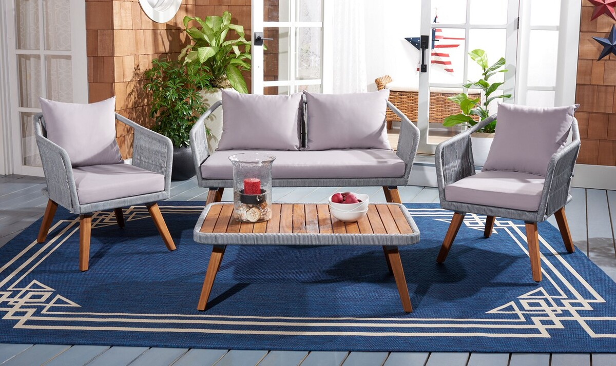 PAT7049C Patio Sets - 4 Piece - Furniture by Safavieh on Safavieh Raldin  id=42962