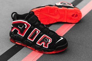 Nike Air More Uptempo '96 'Black / Laser Crimson'