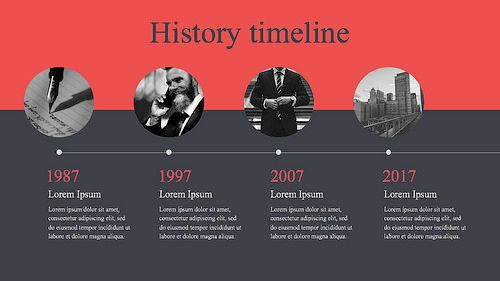 15  Best Timeline Templates   Free   Editable   Custom Designs Modern history timeline template