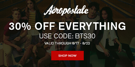 30% off Aeropostale & $50 Gift Card Giveaway