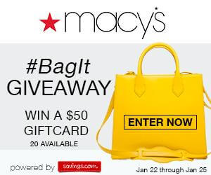Macy's #BagIt Gift Card Giveaway