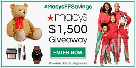 Macy's $1,500 Giveaway