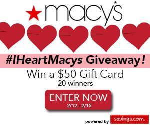 I Heart Macy's giveaway
