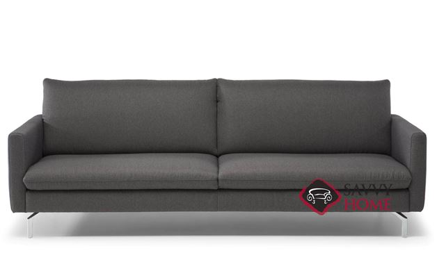 The fabric on sofa arms often wears faster than the rest of the sofa. Premura (C083) Leather Stationary Sofa by Natuzzi is Fully ...