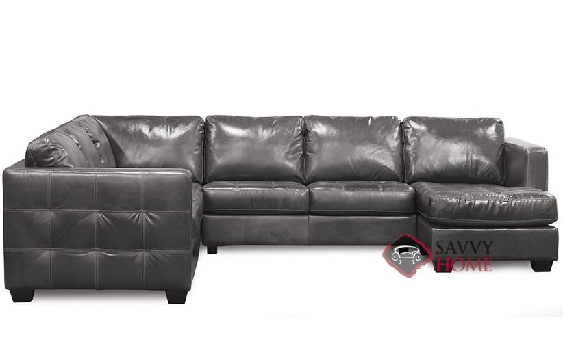 barrett top grain leather u shape true sectional sofa by palliser