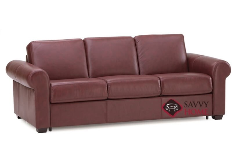 leather sofa bed with memory foam mattress