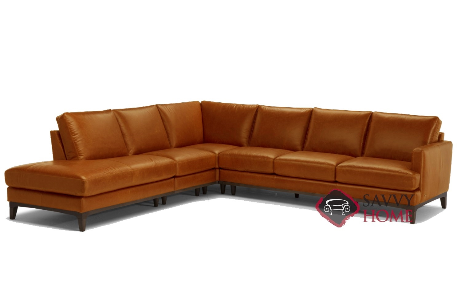 Large Leather Sectional Chaise