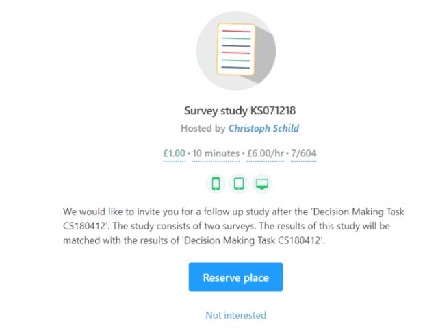 Image result for prolific survey