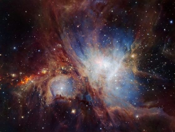 This image of the Orion Nebula was obtained from multiple exposures using VLT's HAWK-I infrared camera. This is the deepest view ever of this region and reveals more very faint planetary-mass objects than expected. Image credit: H. Drass et al / ESO.