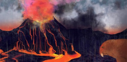 The discovery of a spike of mercury in 252-million-year-old rock at locations around the world gives evidence for the prevailing theory that volcanic eruptions caused the end-Permian extinction. Image credit: Margaret Weiner / University of Cincinnati Creative Services.