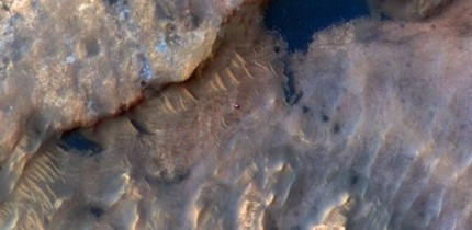 NASA's Mars rover Curiosity can be seen in this image taken from space on May 31, 2019, by the HiRISE camera aboard the Mars Reconnaissance Orbiter. Image credit: NASA / JPL-Caltech.