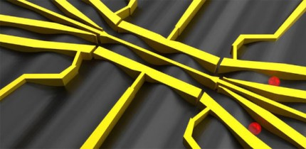3D render of the semiconductor nanostructure. Image credit: Hermann Edlbauer.