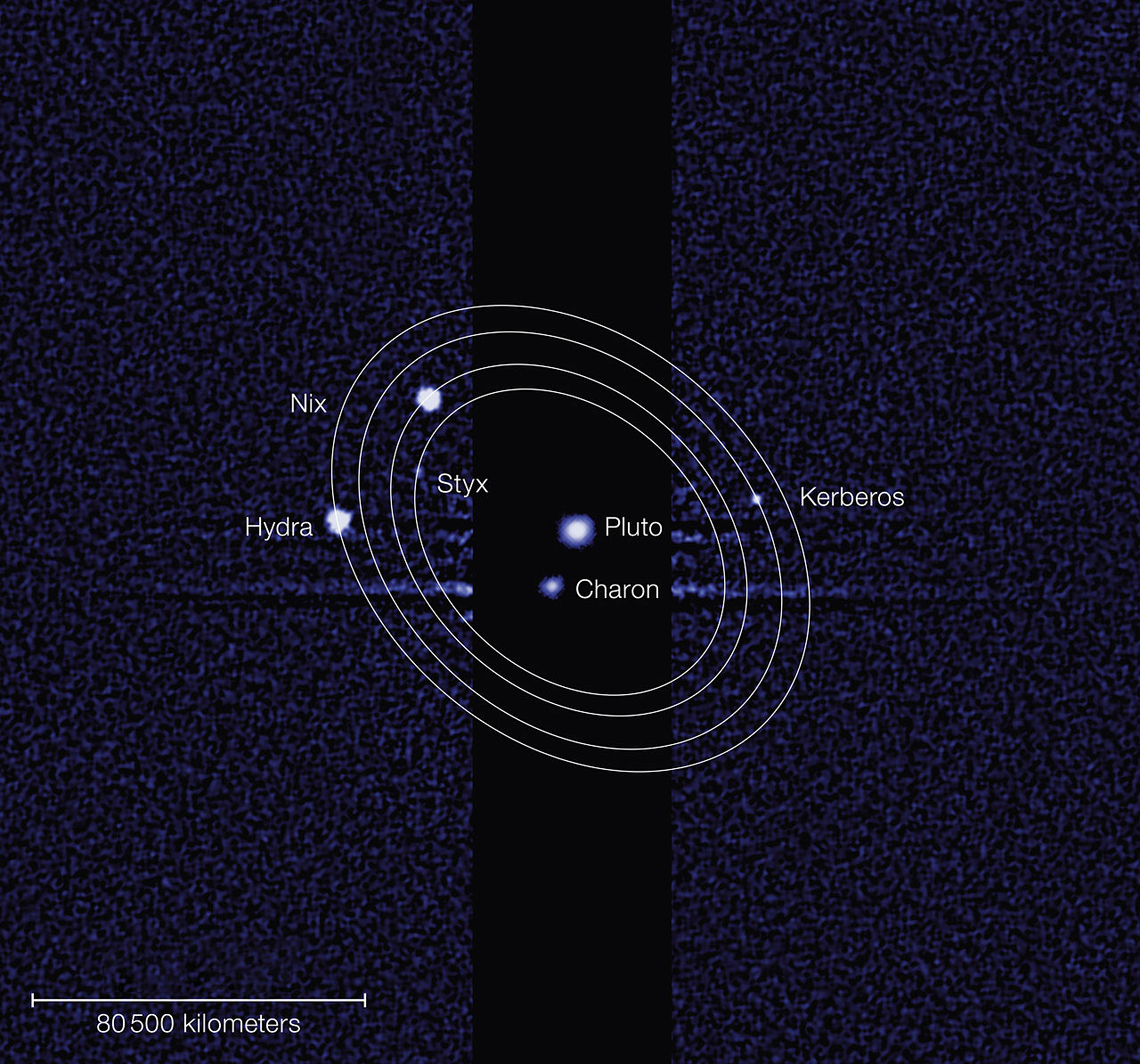 Kerberos And Styx Pluto S Two Recently Discovered Moons