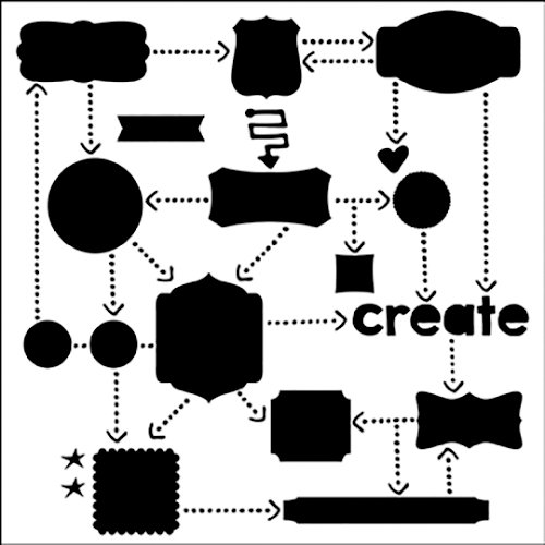The Crafter's Workshop - 12 x 12 Doodling Templates - Flow Chart