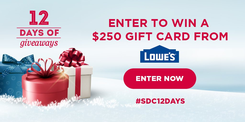Win a gift card from Lowe's!