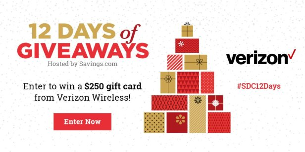 Win a $250 gift card from Verizon Wireless!