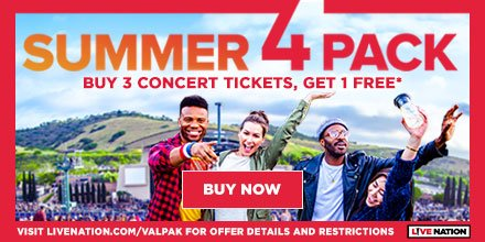 Buy three Live Nation tickets, get one free!