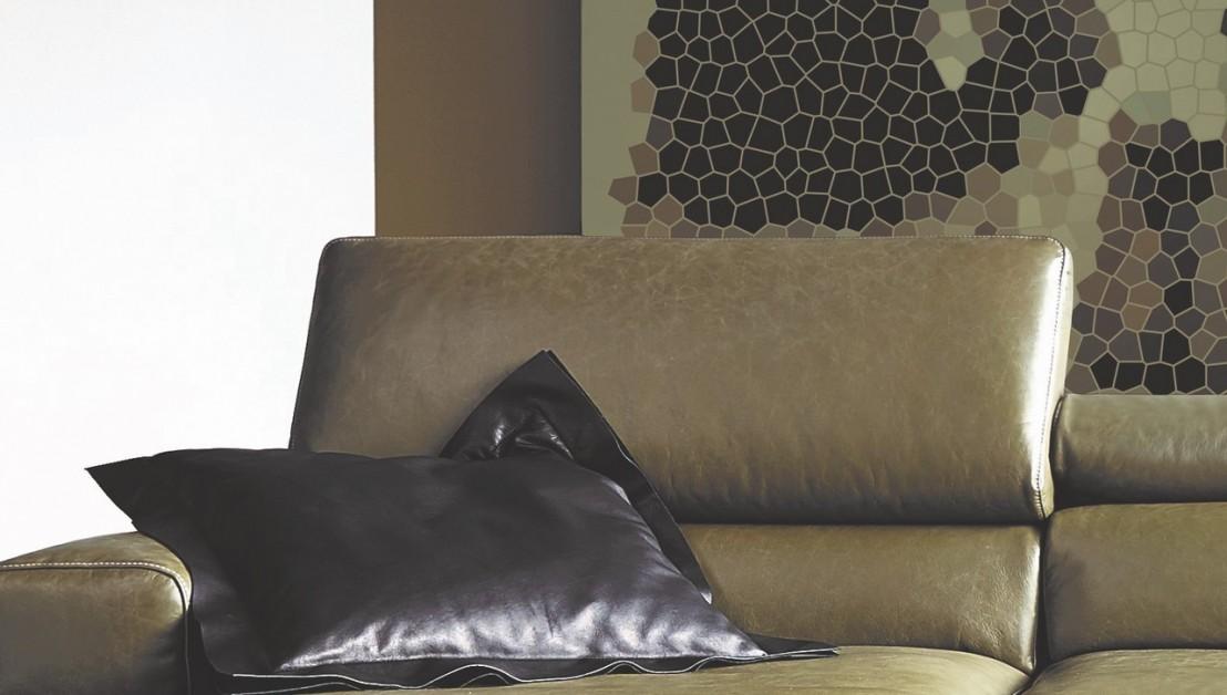 Canap Angle Design Contemporain Cuir Et Bois TEMPERANTPM