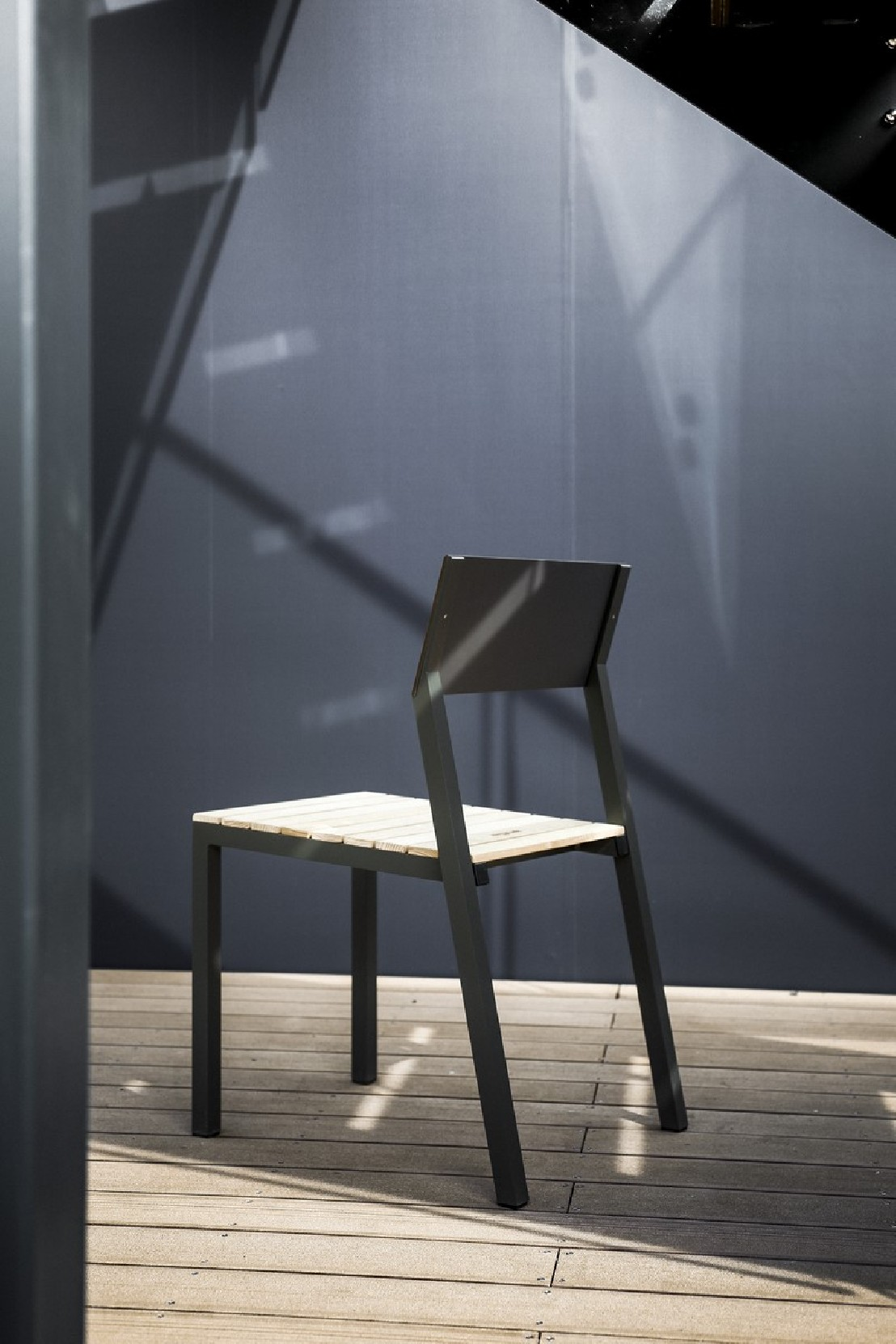 Chaise Extrieure De Terrasse CORA En Mtal Aluminium De