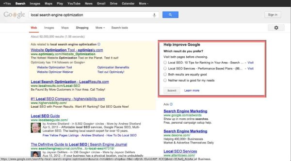 How Google Collects Search Quality Date - Search Engine ...