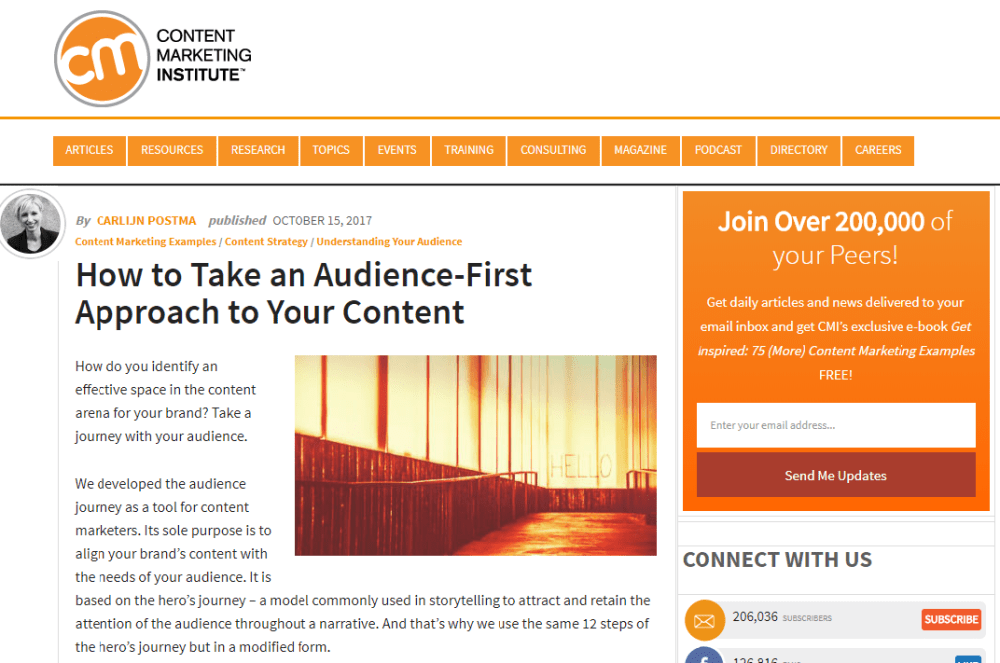 CMI Article - How to Take an Audience-First Approach to Your Content