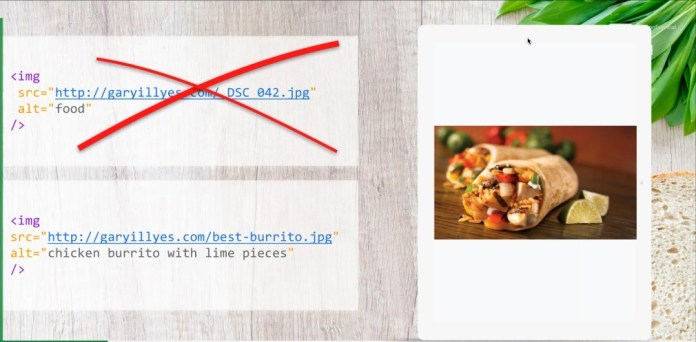Examples of bad and good image 'alt' attributes