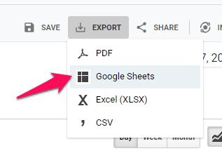 Export Sheet
