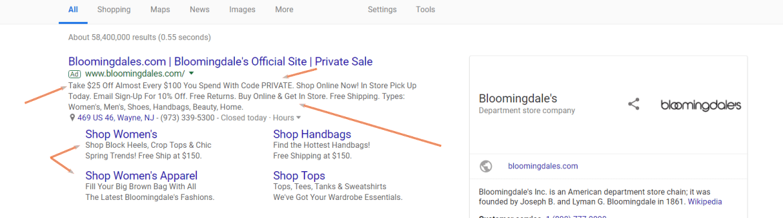 ad screenshot for bloomingdales