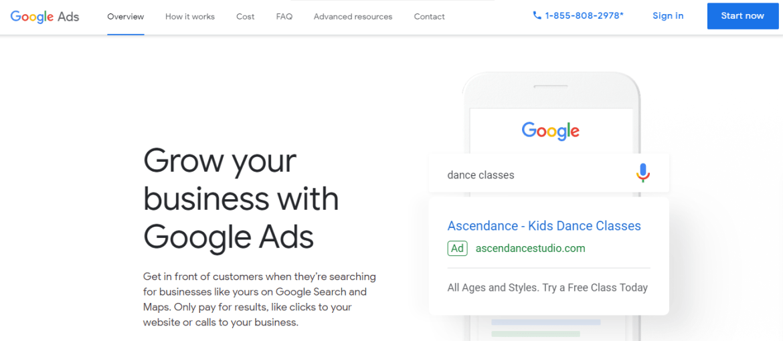 Google Ads animation