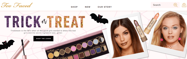 Example of microcopy from Too Faced