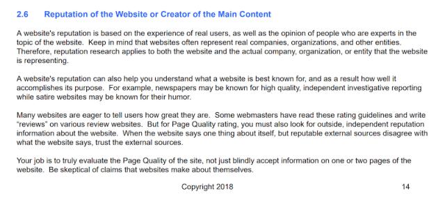 website reputation guidelines