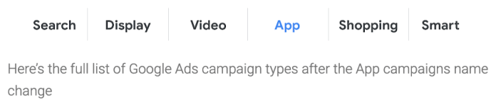 Google Ads' Universal App Campaigns Are Now Just 'App Campaigns'