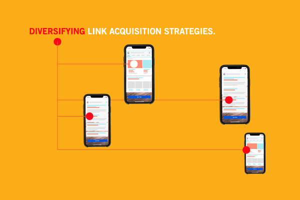 Diversifying link strategies