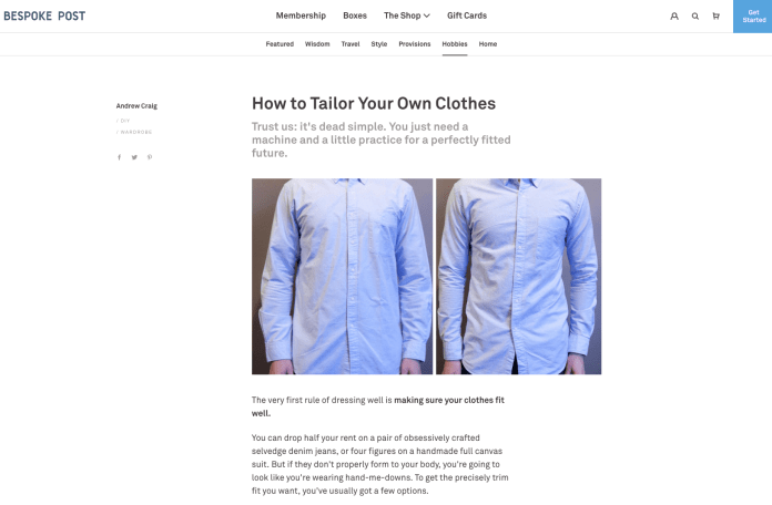 tailor clothes