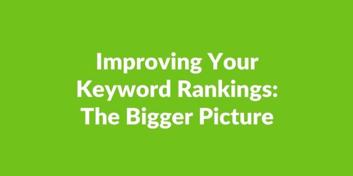 improving keyword rankings