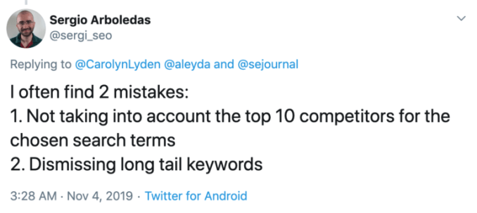 4. Dismissing Long-Tail Keywords